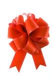 Proue rouge de cadeau Photos libres de droits