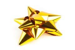 Proue simple de Noël d'or Image libre de droits
