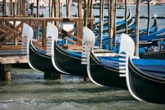 Proues de gondole à Venise Photo libre de droits