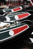 Proues de Narrowboats Images stock