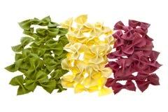 Proues sèches de pâtes sous forme d'indicateur italien Photos stock