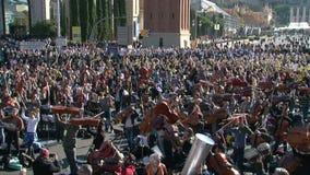 Prounabhängigkeit für Katalonien-Konzert in Barcelona stock video