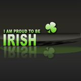 Pround to be Irish. Stock Photo