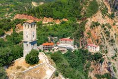 Free Proussos Monastery Near Karpenisi Town In Evrytania - Greece. Stock Photo - 158128040