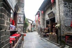 Província China de Guangxi, atrações turísticas famosas em Hezhou, cidade antiga de Huang Yao Fotografia de Stock