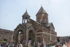 Província de Ararat, Armênia - 15 de junho de 2015: A igreja da mãe santamente do deus Imagens de Stock Royalty Free