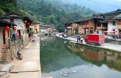 PROVÍNCIA de FUJIAN, CHINA - vila antiga de Taxia construída em 1426, Ming Dynasty Imagens de Stock