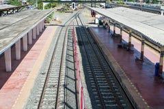 Província de Nakhon Ratchasima da estação de trem, Tailândia Fotos de Stock Royalty Free
