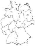Províncias alemãs (estados) Foto de Stock Royalty Free