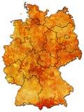 Províncias alemãs (estados) Fotografia de Stock Royalty Free