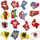 Províncias em poland Imagens de Stock Royalty Free