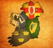 Províncias no mapa de ireland Fotografia de Stock