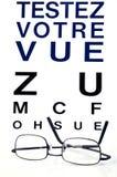 Prov din sikt som är skriftlig i franskt vektor illustrationer