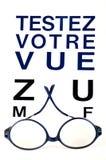 Prov din sikt som ?r skriftlig i franskt royaltyfri illustrationer