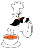 prov för guarantee för kockmat gott vektor illustrationer