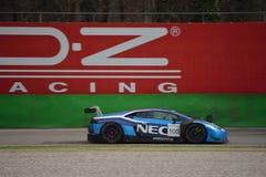 Prov för Lamborghini Huracà ¡ n GT3 2016 på Monza Royaltyfria Bilder