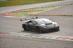 Prov för Lamborghini Huracà ¡ n GT3 2016 på Monza Arkivfoton