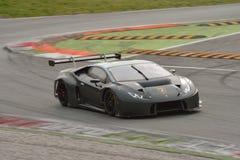Prov för Lamborghini Huracà ¡ n GT3 2016 på Monza Fotografering för Bildbyråer