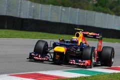 Prov F1 Mugello Mark Webber 2012 Arkivbilder