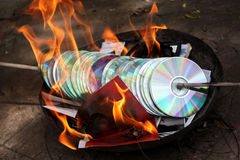 Prova Burning Fotografie Stock