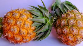 Prova del dolce di dimensione dell'ananas dell'Asia mini fotografia stock