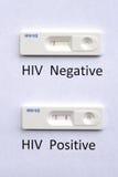Prova del HIV Fotografia Stock