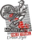 Prova del mountain bike - progettazione di vettore Immagini Stock Libere da Diritti