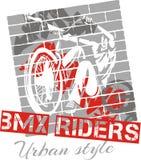 Prova del mountain bike - progettazione di vettore Immagini Stock