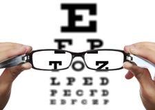 Prova dell'occhio Fotografia Stock