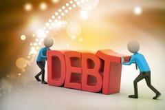 prova della gente 3d per evitare debito Immagini Stock Libere da Diritti