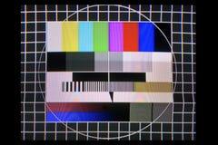 Prova della TV Immagine Stock