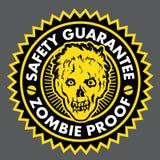Prova delle zombie, guarnizione di garanzia di sicurezza Fotografia Stock