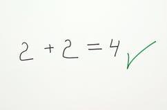 Prova di per la matematica Fotografia Stock