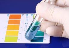 Prova di pH Fotografie Stock Libere da Diritti