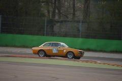 Prova 2016 di Romeo Giulia GTAm 1750 dell'alfa a Monza fotografia stock