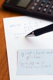 Prova di scrittura al banco Immagine Stock Libera da Diritti