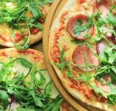 Prova i generi differenti di pizza Fotografia Stock Libera da Diritti