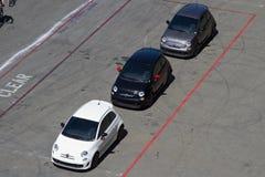 Prova su strada di Fiat alla canalizzazione di Sonoma di sfida di Ferrari Immagine Stock Libera da Diritti