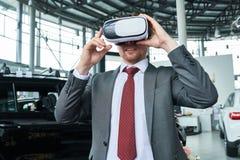 Prova su strada virtuale dell'automobile immagine stock