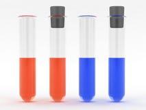 Prova-tubo con liquido colorato Immagini Stock
