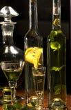 Provando o licor erval foto de stock