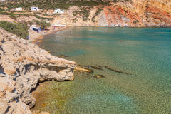 Provatas beach, Milos island, Cyclades, Greece Stock Images