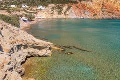 Provatas beach, Milos island, Cyclades, Greece Stock Images