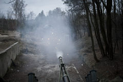 Prove del BTR-3 nuovo Kiev Ucraina Fotografie Stock