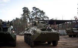 Prove del BTR-3 nuovo Kiev Ucraina Fotografia Stock Libera da Diritti