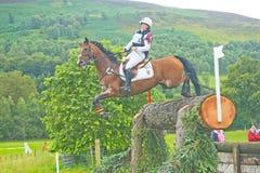 Prove di cavallo internazionali del competitore tedesco 2011. Immagini Stock
