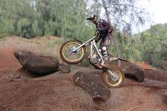 Prove di ciclismo della sporcizia Fotografie Stock