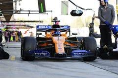 Prove 2019 di inverno di Formula 1 immagine stock libera da diritti