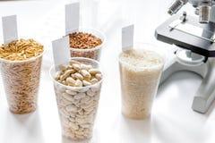 Prove per gli antiparassitari in cereale dentro al laboratorio Fotografia Stock Libera da Diritti