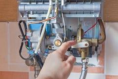 Provea de gas el calentador de agua Imagenes de archivo